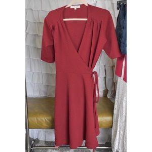 Shabby Apple Embroidered midi Wrap Dress
